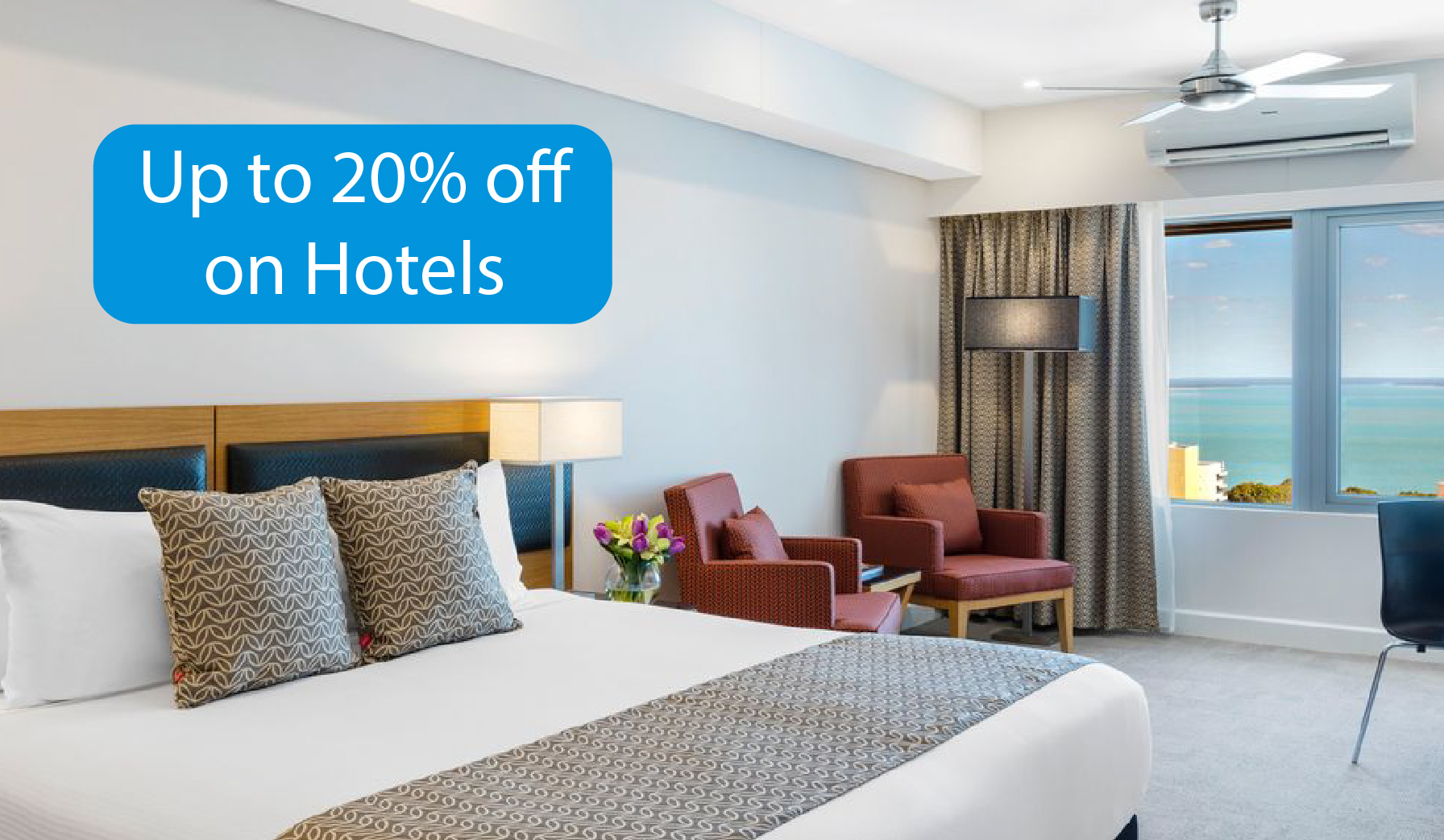 Hotels up to 20% off